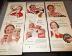 Coca Cola advertising from national geographic 6 piecces 1933  / nr 2774