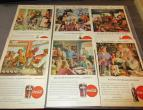 Coca Cola advertising from national geographic 6 piecces 1946 / nr 2804