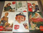 Coca Cola advertising from national geographic 6 piecces 1952 / nr 2810