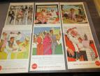 Coca Cola advertising from national geographic 6 piecces 1957 / nr 2815