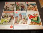 Coca Cola advertising from national geographic 6 piecces 1958 / nr 2816