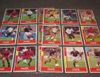 coca cola collector cards foot ball 17 stuks